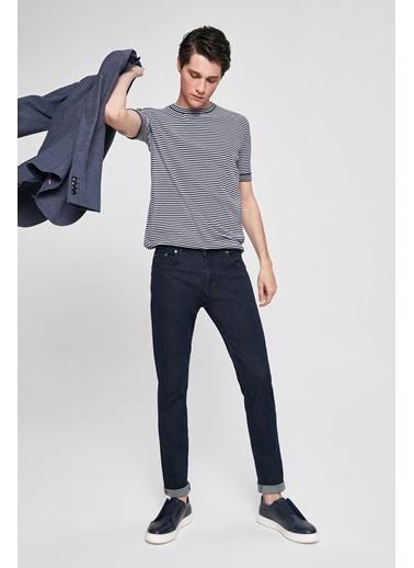 D'S Damat Slim Fit Düz Denim Pantolon Lacivert